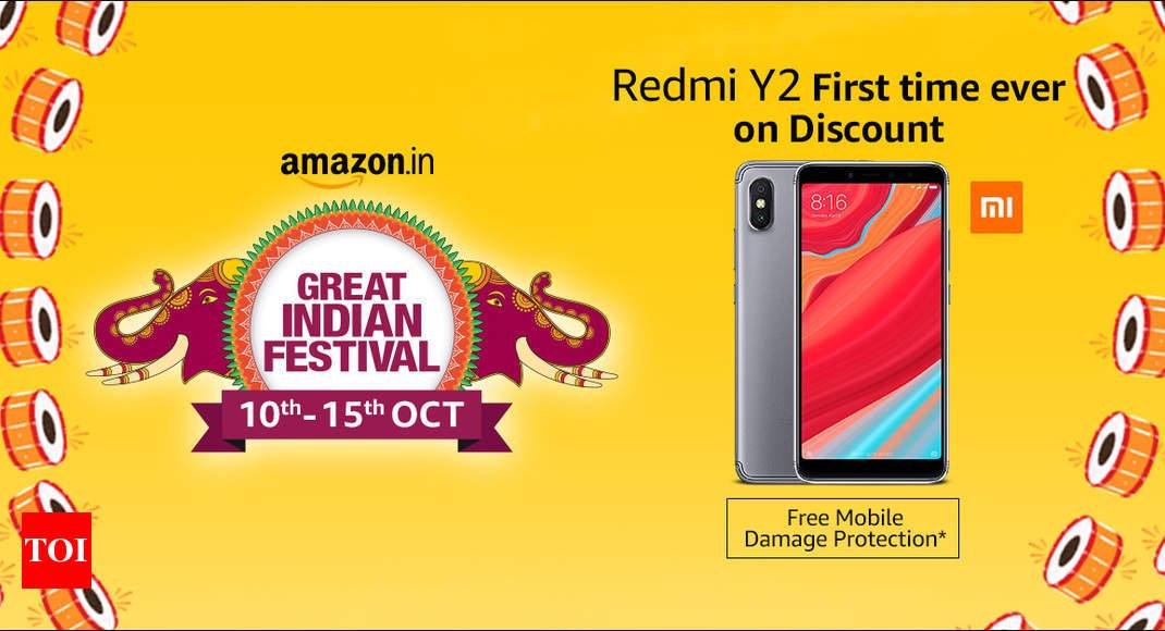 Mi phones on sale at Amazon  Discount on Redmi Y2 006373e5e031