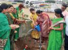 Ladies of mahila mandal conduct tree plantation drive