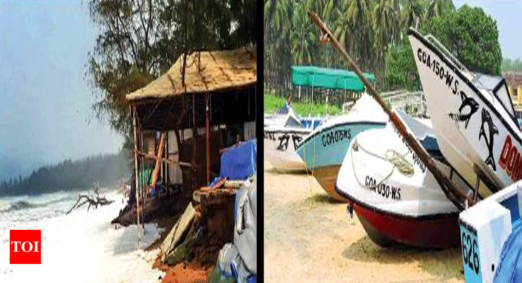 In Goa, shacks hit by rising sea, drop in tourists - Times of India