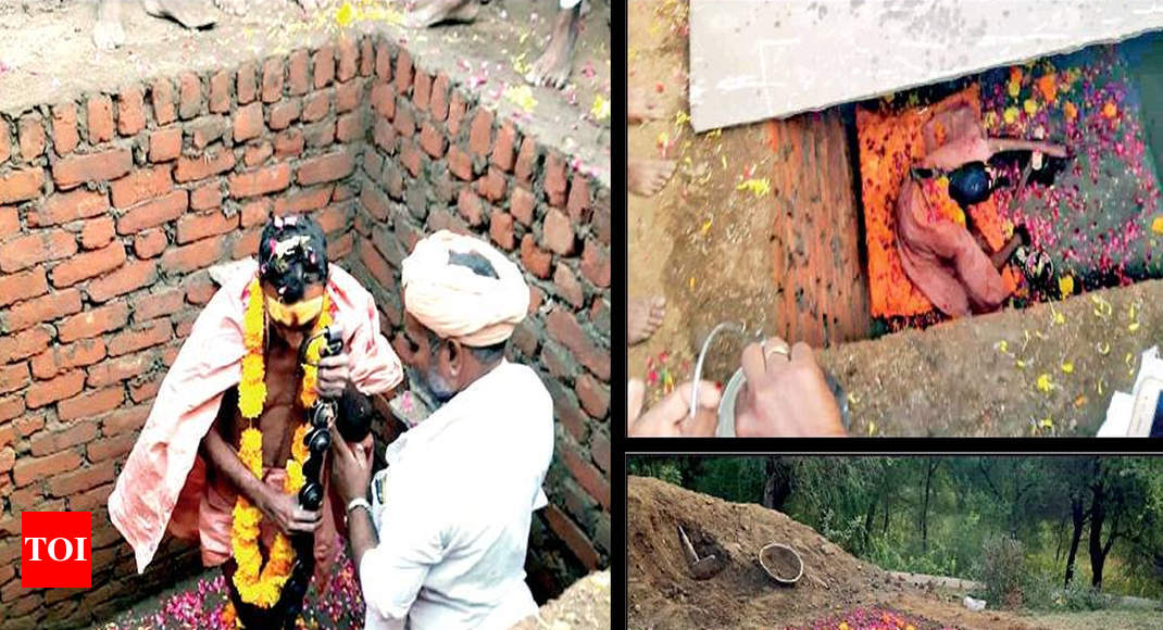 Tantrik rescued after 8 hours of 'samadhi' in Bhilwara - Times of India