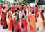 Ladies celebrate woman power during Navaratri