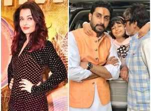 Aishwarya Rai Bachchan posts an adorable pic of Aaradhya with Abhishek and Amitabh Bachchan