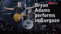Bryan Adams performs in Gurgaon