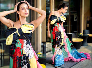 Malaika's colourful gown will brighten up your day