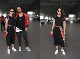 Hina Khan spotted twinning with bf Rocky