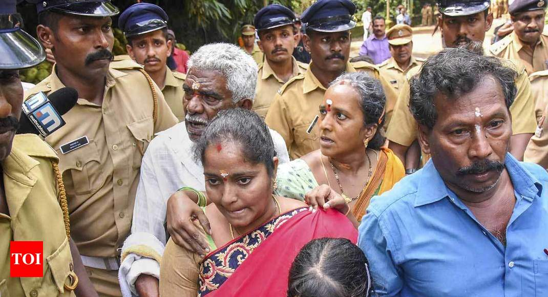 Few women, none from 'banned' age group, enter Sabarimala as its gates open after SC verdict - Times of India thumbnail