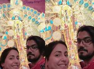 Hina celebrates Durga Puja with Rocky