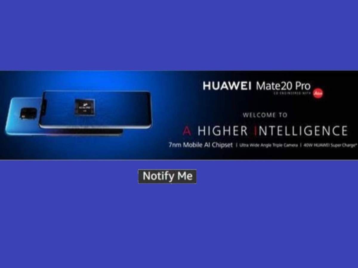 Mate 20 Pro: Huawei to unveil Huawei Mate 20 Pro along with