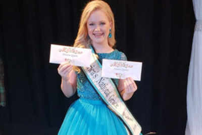 11-year-old beauty queen donates her prize money to Hurricane victims