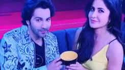 Koffee With Karan 6: Varun Dhawan and Katrina Kaif pose with 'Koffee' mugs