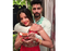 Picture: Monalisa wishes her fans on Dussehra with husband Vikrant