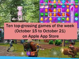 Ten top-grossing games of the week (October 15 to October 21) on Apple App Store