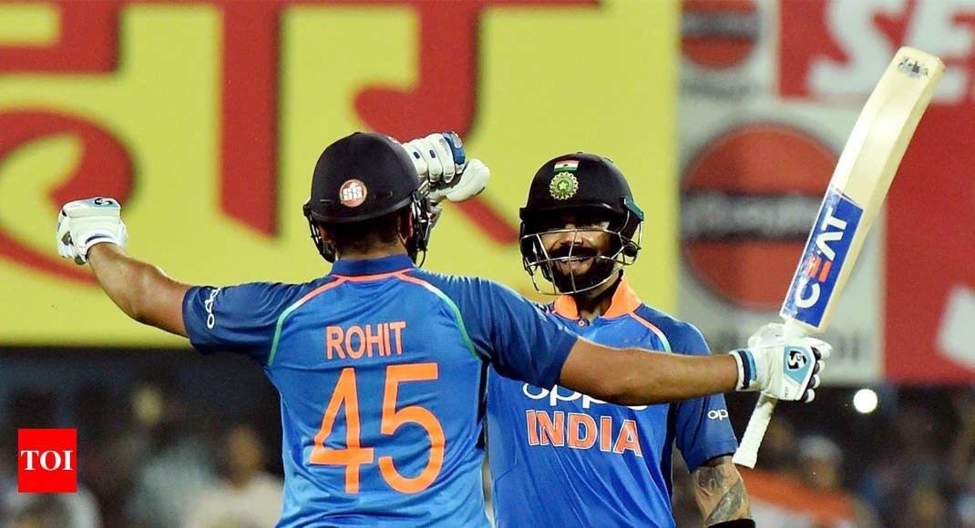 Ind Vs Wi St Odi Virat Kohli Rohit Sharma Trample West In S In Indias  Wicket Win Cricket News Times Of India