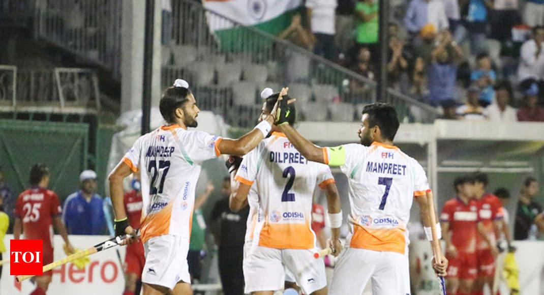 India vs Japan hockey: India crush Japan 9-0 in Hockey Champions Trophy    Hockey News - Times of India