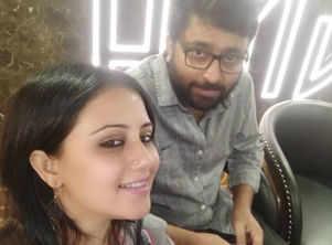 Manali and Abhimanyu twin in grey