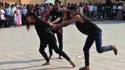 Students stage street play at Amber Fort to sensitise public
