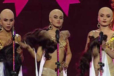 Pageant contestants emotional ode to breast cancer survivors