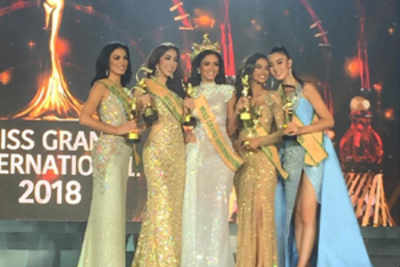 Meenakshi Chaudhary from India wins 1st runner-up title at Miss Grand International 2018