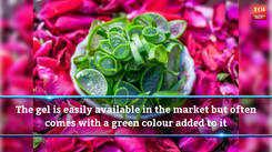 How to make rose aloe vera gel at home