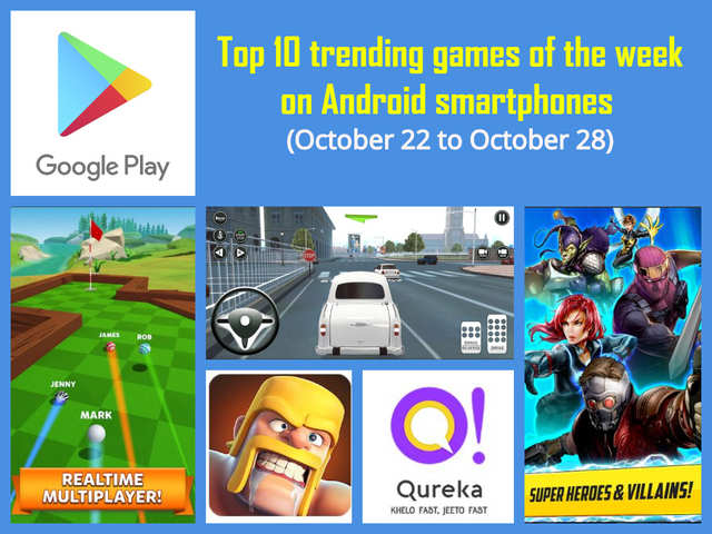 Top 10 trending games of the week (October 22 to October 28) on Android smartphones