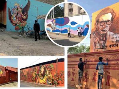 Allahabad walls become canvas stories through art