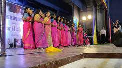 Students from MGR Janaki College celebrates Ilaiyaraja Birthday by singing his songs