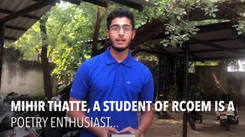 RCOEM student Mihir Thatte shares his love for poetry
