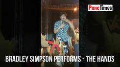 Bradley Simpson comes close to his fans
