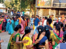 Ladies contest to win sarees at an event in the city