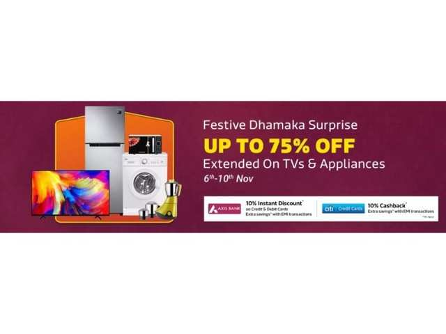 Flipkart Festive Dhamaka Surprise: Discounts on TVs and these appliances available till November 10