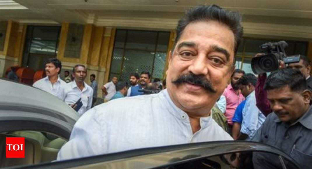 Birthday boy Kamal Haasan says Makkal Needhi Maiam is ready to contest bypolls to 20 assembly seats in TN - Times of India thumbnail