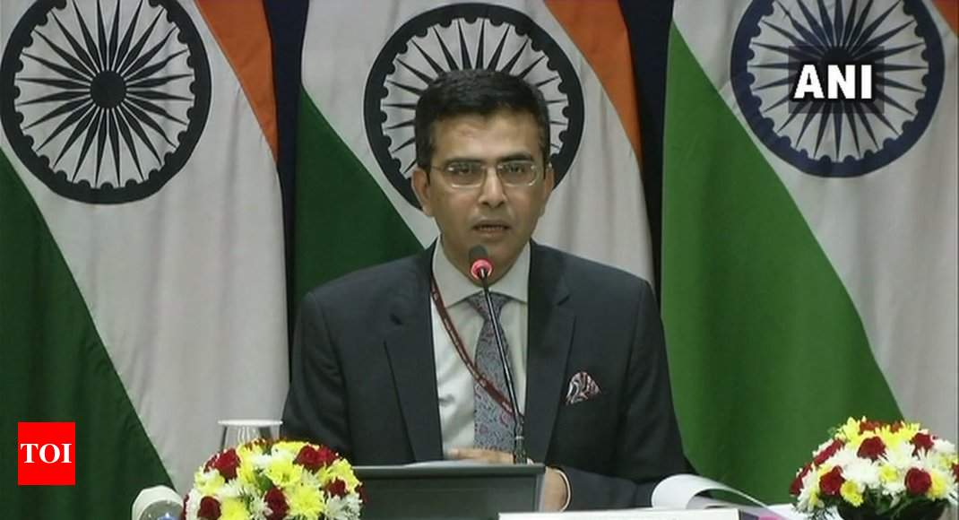 India will not hold talks with Taliban: MEA - Times of India