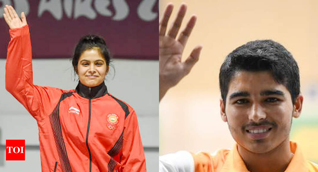 Asian Shooting Championships: Manu-Saurabh win mixed event gold with junior world record - Times of India