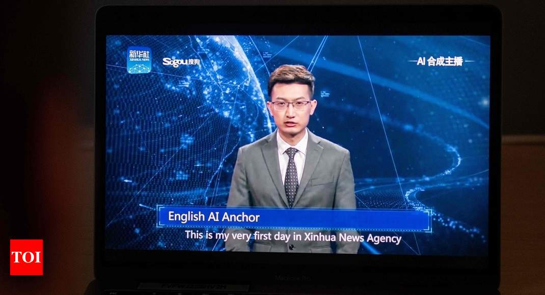 World's first AI news anchor debuts in China - Times of India