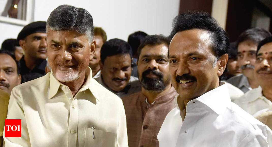 Chandrababu Naidu visits DMK chief Stalin to bolster anti-BJP front bid - Times of India