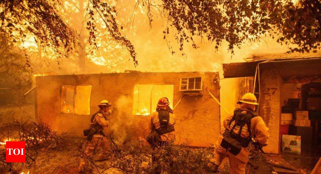 Paradise lost: California fires rage on - Times of India thumbnail