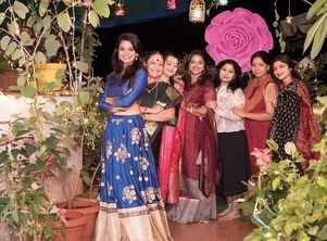 Television folks live it up at Shruti Naidu's Deepavali do