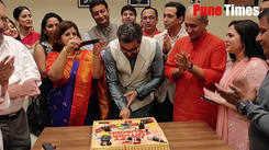Subodh Bhave Birthday Celebration at the premier of  Ani.. Kashinath Ghanekar