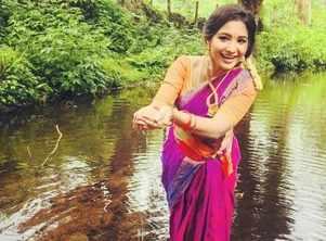 Sharanya has behind-the-scenes fun; See Post