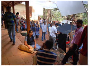 Ahead of her film's release, Janaki Pathak shares a BTS picture from the sets of 'Vanilla, Strawberry and Chocolate'