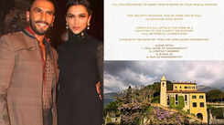 Deepika Padukone and Ranveer Singh urge guests to donate gifts to charity