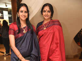 Ranjani and Gayathri looked elegant in saris at the India Living Awards 2018 at Le Royal Meridien