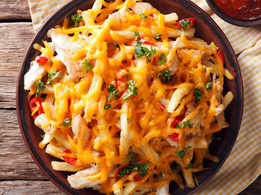 Baked Cheesy French Fries