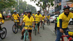 Diabetic awareness cycle ride in Kochi