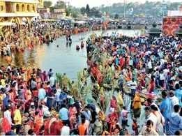 Chhath festivities in Nashik