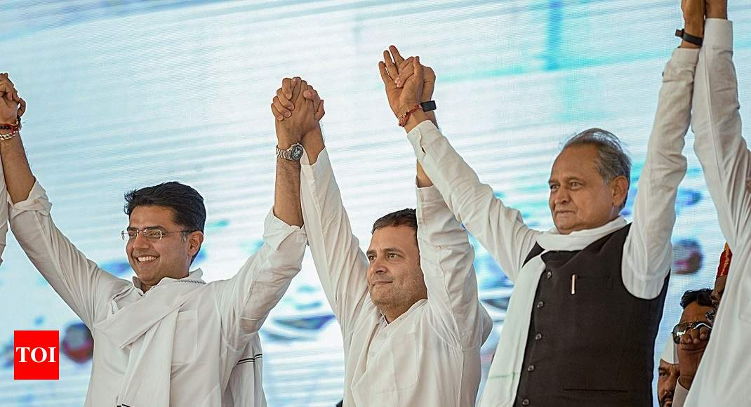 Congress CM-face suspense continues: Both Pilot, Gehlot in Rajasthan poll fray - Times of India thumbnail