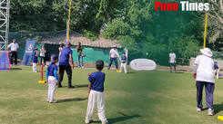 Practise session for Vinod Kambli with Kids