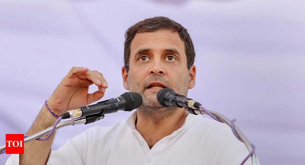 Chhattisgarh assembly polls: Rahul Gandhi promises farm loan waiver, says money will come from Ambani, Mallya - Times of India