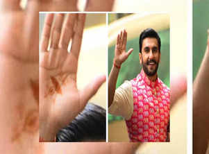 Take closer look at Ranveer Singh's mehendi