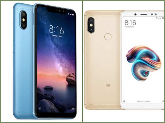 Xiaomi Redmi Note 6 (left); Xiaomi Redmi Note 5 Pro (right)